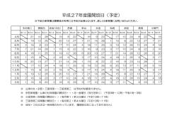 平成27年園開放日(PDF)