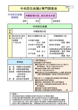中央防災会議と専門調査会