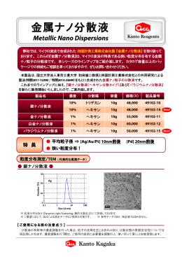 金属ナノ分散液