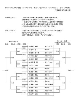 ウェルネススクエア札幌 ジュニアテニストーナメント (ラブテニス・ジュニア