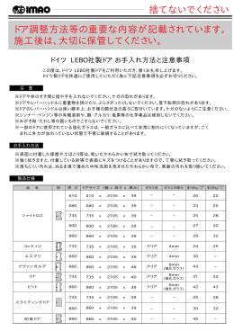 LEBO室内ドア調整方法 (PDF 659KB)