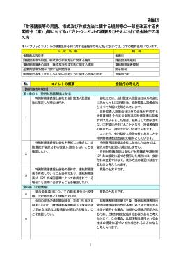 別紙1 - 金融庁