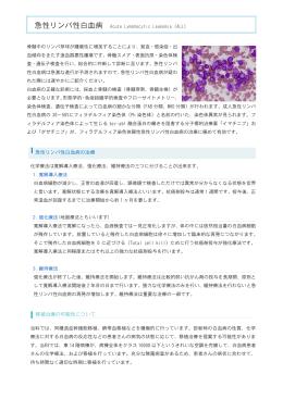 急性リンパ性白血病の治療 移植治療の可能性について
