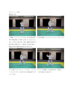 ウォニョ(元暁) 動作数…28 準備。モアチュンビソギ A。右手は拳を握り