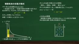 理想気体の状態方程式