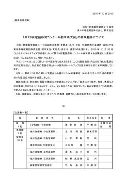「第29回電話応対コンクール栃木県大会」の結果報告