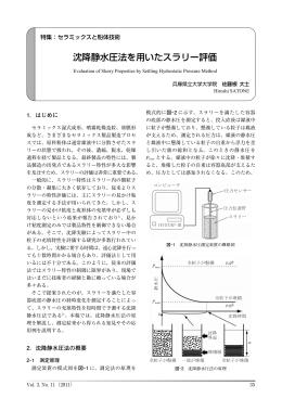 沈降静水圧法を用いたスラリー評価
