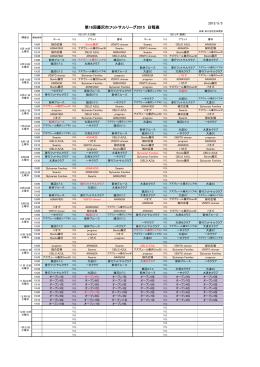 日程表(PDF)