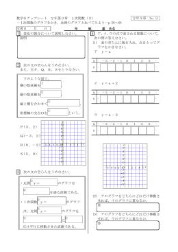 1次関数のグラフをかき - Gアップシート・Gベース学習サイト
