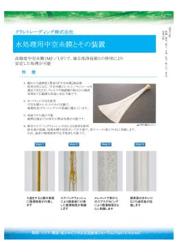 水処理用中空糸膜とその装置 - Team E