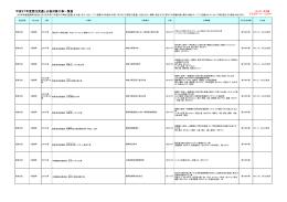平成27年度発注見通し公表対象工事一覧表