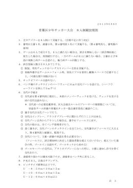 青葉区少年サッカー大会 8人制競技規則