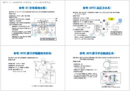 参考:IC(非常用復水器) 参考:HPCI(高圧注水系) 参考:RCIC(原子炉