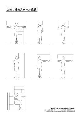 人体寸法のスケール感覚