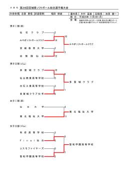第28回宮城県ソフトボール総合選手権大会 2 7 4 11 0 6 3 2 0 2 10 0 3