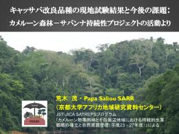 発表スライド. - JST-JICA SATREPS カメルーン森林