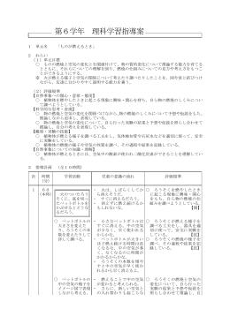 「ものが燃えるとき」の指導案 [PDFファイル/189KB]