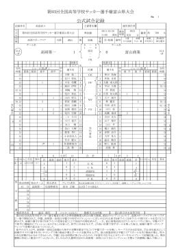 公式試合記録 - 富山県サッカー協会