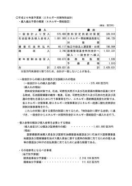 エネルギー対策特別会計予算案に関する情報(PDF