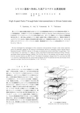シリコン基板へ形成した高アスペクト比貫通配線