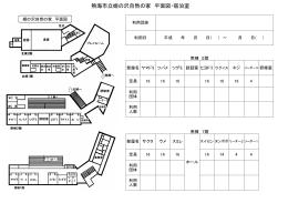 熱海市立姫の沢自然の家 平面図・宿泊室