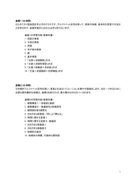 基礎1(30 時間) はじめてタイ語会話を学ぶ方のクラスです