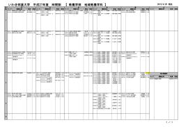地域教養学科 時間割 (2015.4.20版 PDF 59Kb)