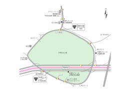 南口ゲート みのり橋南詰 至:茨木市内 北口ゲート 東口ゲート ホテル阪急