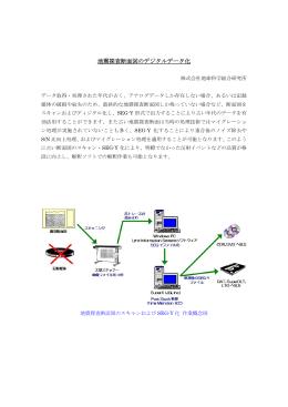 地震探査断面図のデジタルデータ化