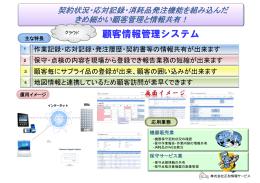 顧客情報管理システム - 株式会社正和情報サービス 株式会社正和情報