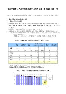 滋賀県域からの温室効果ガス排出実態(2011 年度)について