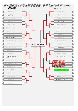 第35回横浜市小学生野球選手権 春季大会(小泉杯 YKBL)