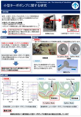 小型ターボポンプに関する研究