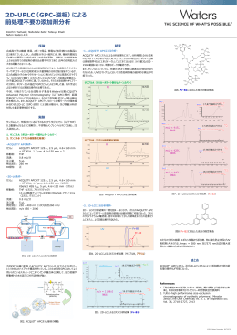 2D-UPLC(GPC-逆相)による 前処理不要 添加剤分析 前処理