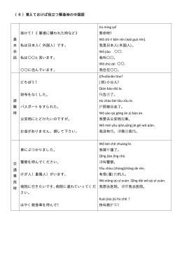 (6)覚えておけば役立つ緊急時の中国語 基 本 会 話 助けて!《暴漢に襲