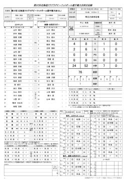 大会結果(PDF) - 北海道ラグビーフットボール協会