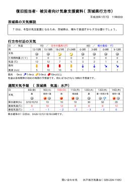 復旧担当者・被災者向け気象支援資料(茨城県行方市)
