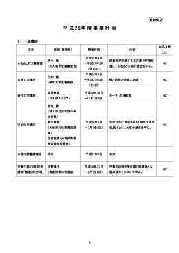 資料No.2平成26年度事業計画 (ファイル名:02H26keikaku