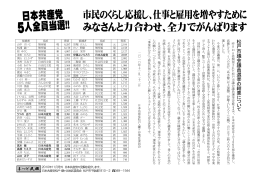 松 戸 市 議 会 議 員 選 挙 の 結 果 に つ い て