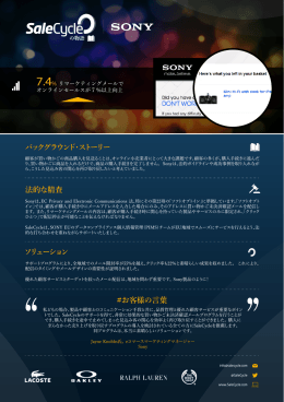 Sony Email Remarketing Story - JP copy