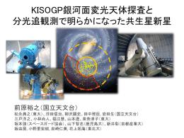 KISOGP銀河面変光天体探査と 分光追観測で明らかになった共生星新星