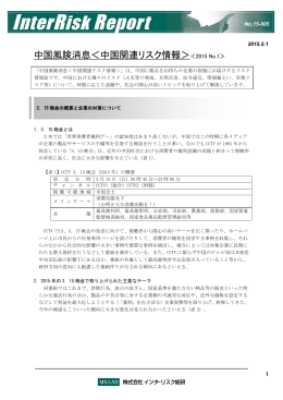 InterRisk Report Form(2010.7改定)