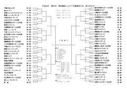 平成25年 第28回 関東選抜しもだて学童野球大会 組み合わせ