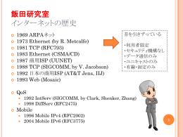 飯田研究室 インターネットの歴史