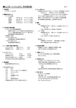 大会特別規則書 - AESダートバトル2015