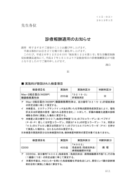 (15-03)診療報酬適用のお知らせ(Mac