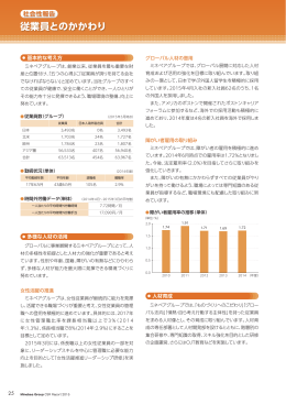 従業員とのかかわり - ミネベアグループ CSRレポート2015
