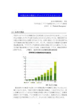 チャイナプラス2013 レポート