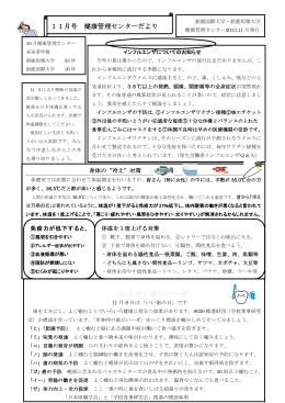 健康センター便り 2013年11月号【PDF】
