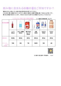 飲み物に含まれる砂糖の量をご存知ですか?